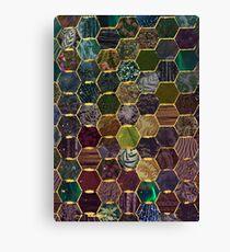 honeycomb mermaid scales Canvas Print