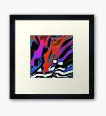 Into the fold, abstract art Framed Print