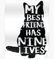 Cat Lover Typography Design Poster