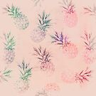Retro soft pastel pineapple pattern by artsandsoul