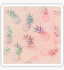 Retro soft pastel pineapple pattern Sticker