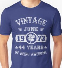 Birthday June 1973 44 Years Of Being Awesome Unisex T-Shirt