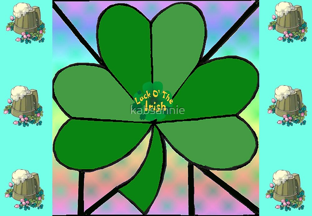Shamrock in Frame by kabsannie