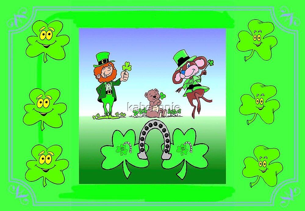 Wishing Good Luck Leprechauns by kabsannie