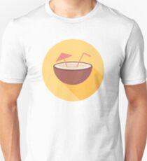 Flat vector coconut Unisex T-Shirt
