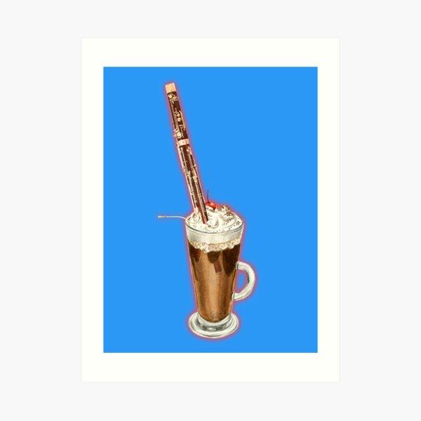 Bassoon Musical Coffee Choc Malt Milkshake Art Print