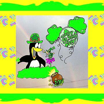 Penguin Leprechaun by kabsannie