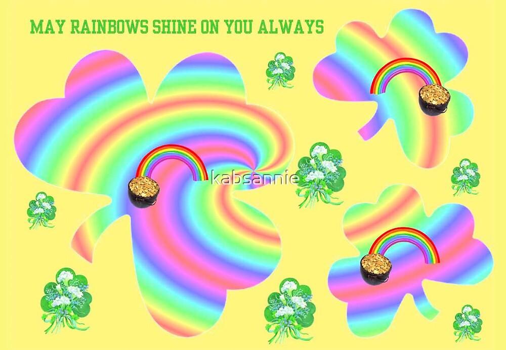 Rainbow Shamrocks by kabsannie