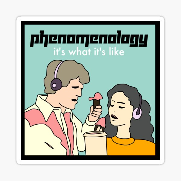 Phenomenology: It's What It's Like Sticker