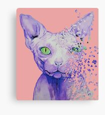 Tearing a Cat Canvas Print