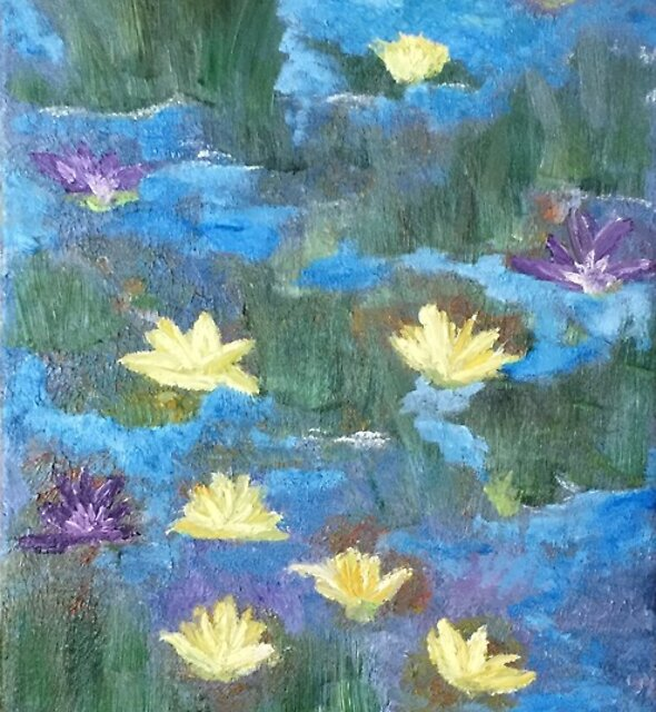 kws water lilies by kathy wolfstone-smith