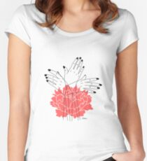 Reaching For Light Women's Fitted Scoop T-Shirt