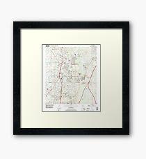 USGS TOPO Map Florida FL Lutz 347289 1999 24000 Framed Print