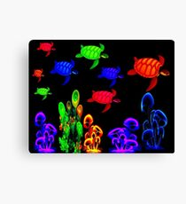 PSYCHEDELIC TURTLE MIGRATION: Abstract Print Canvas Print