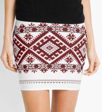 Traditional romanian motif Mini Skirt