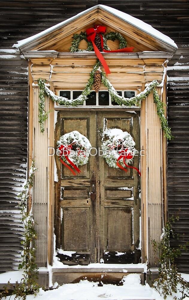 Colonial Christmas Door by Debbra Obertanec
