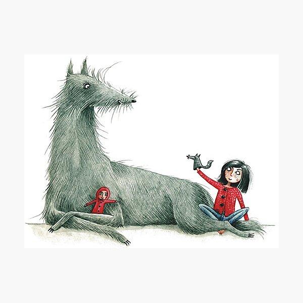 Puppenspiel - Puppet Show - Little Red Riding Hood & The Wolf Fotodruck