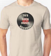 70's Rock Music Records Unisex T-Shirt