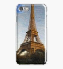 abstract eiffel tower iPhone Case/Skin