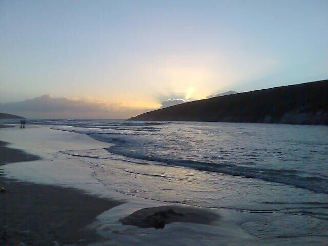 Crantock Beach at Dusk, Newquay Cornwall by Mark  Florey