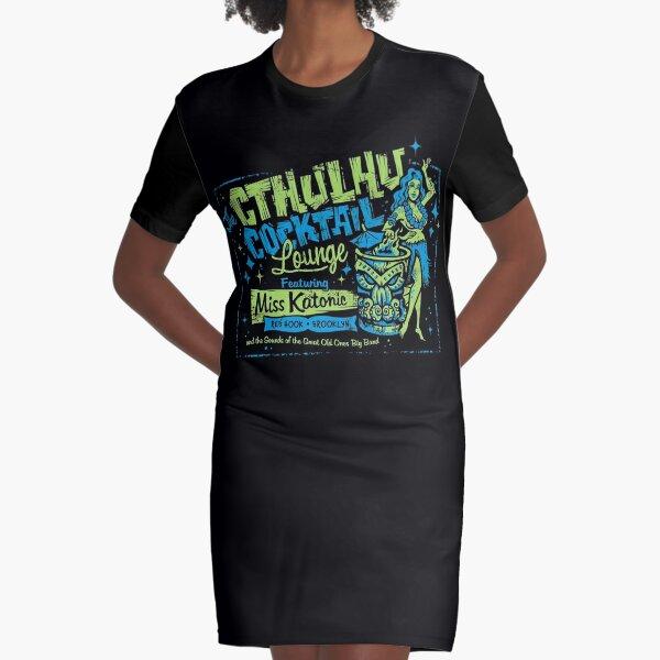 Cthulhu Cocktail Lounge Graphic T-Shirt Dress