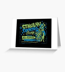 Cthulhu Cocktail Lounge Greeting Card