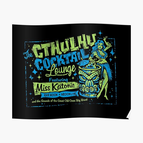 Cthulhu Cocktail Lounge Poster
