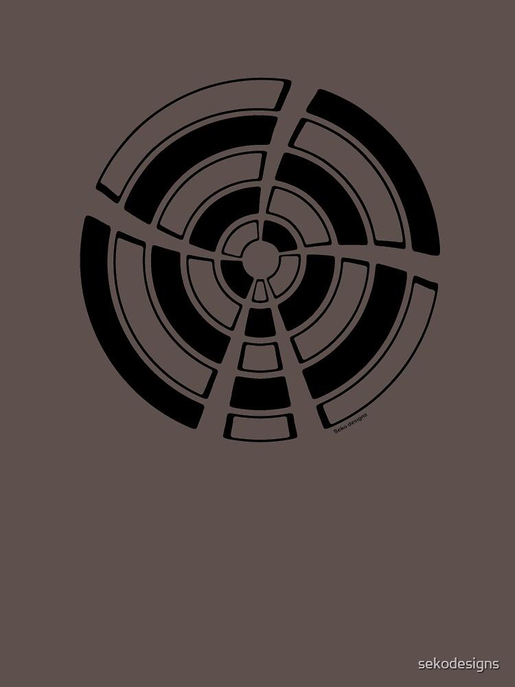 Mandala 25 Back In Black by sekodesigns