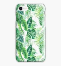 Tropical Leaves Pattern iPhone Case/Skin