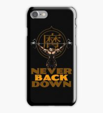 NEVER BACK DOWN - Gohan's GYM iPhone Case/Skin