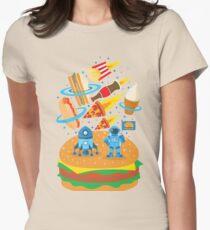 Space Burger Womens Fitted T-Shirt