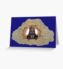 MONTY PYTHON - GOD Greeting Card