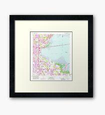 USGS TOPO Map Florida FL Safety Harbor 348374 1956 24000 Framed Print