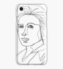 Rosa Luxemburg Single-Line Portrait iPhone Case/Skin
