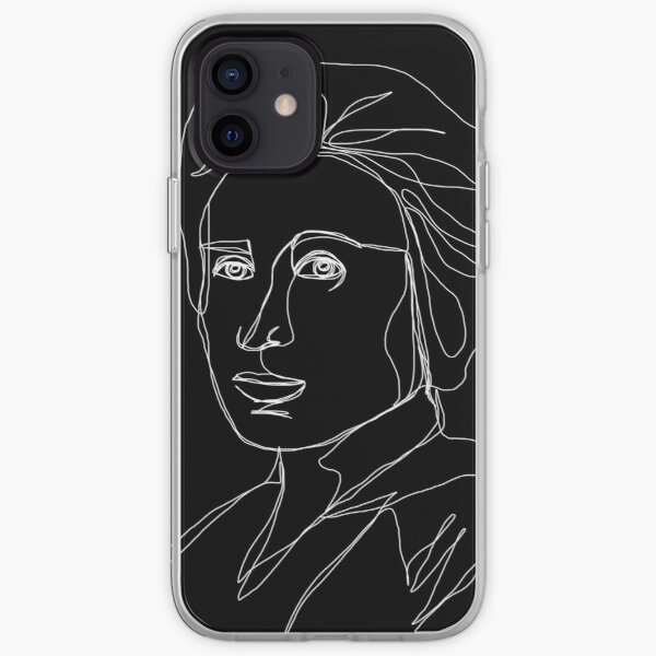 Rosa Luxemburg Single-Line Portrait Inverted iPhone Soft Case