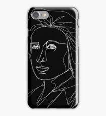 Rosa Luxemburg Single-Line Portrait Inverted iPhone Case/Skin