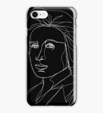 Rosa Luxemburg Single-Line Portrait Inverted iPhone Case/Skin