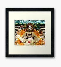 Lion Warrior - Cara Dura! Framed Print