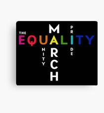 The Pride Equality March Washington DC June 11 2017 Canvas Print