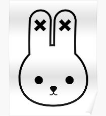 Minimalist Bunny Poster