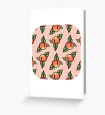 Peachy Pattern Greeting Card