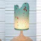 IceBlue Handmade Lampshade by Martina Stroebel