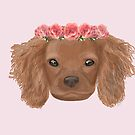 Puppy floral crown by Prettyinpinks