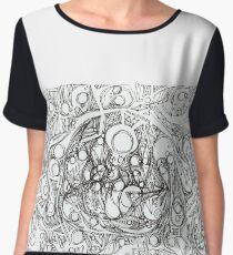 "Abstract graphic artwork  ""Travel"" Chiffon Top"