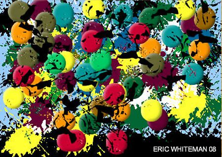 (COLOR MARCH ON ) ERIC WHITEMAN  ART  by eric  whiteman