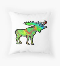 Psychedelic Charm Throw Pillow
