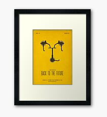 Back To The Future Film Poster Framed Print