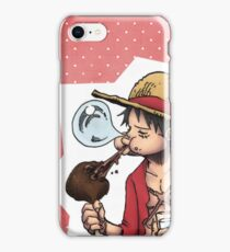 Luffy : red fond  iPhone Case/Skin