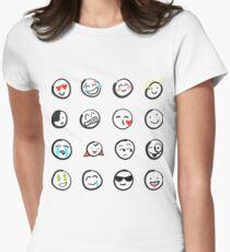 Emoji sticker sheet by mDeltaV Womens Fitted T-Shirt