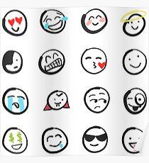 Emoji sticker sheet by mDeltaV Poster